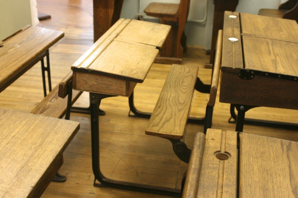 Old-fashioned desks