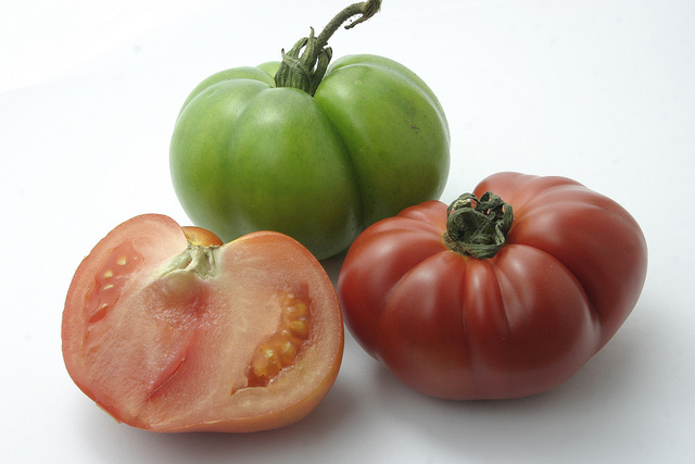 Tomatoes showing seeds